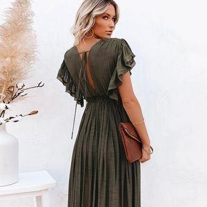 🔹New🔹Green Boho Western Maxi Dress